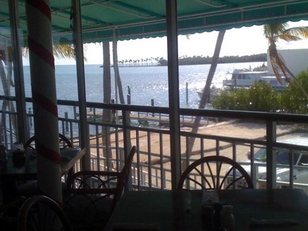 Inside Porch Dining At Lazy Days